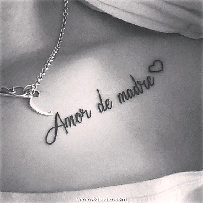 Tatuaje Frase Amor Mama