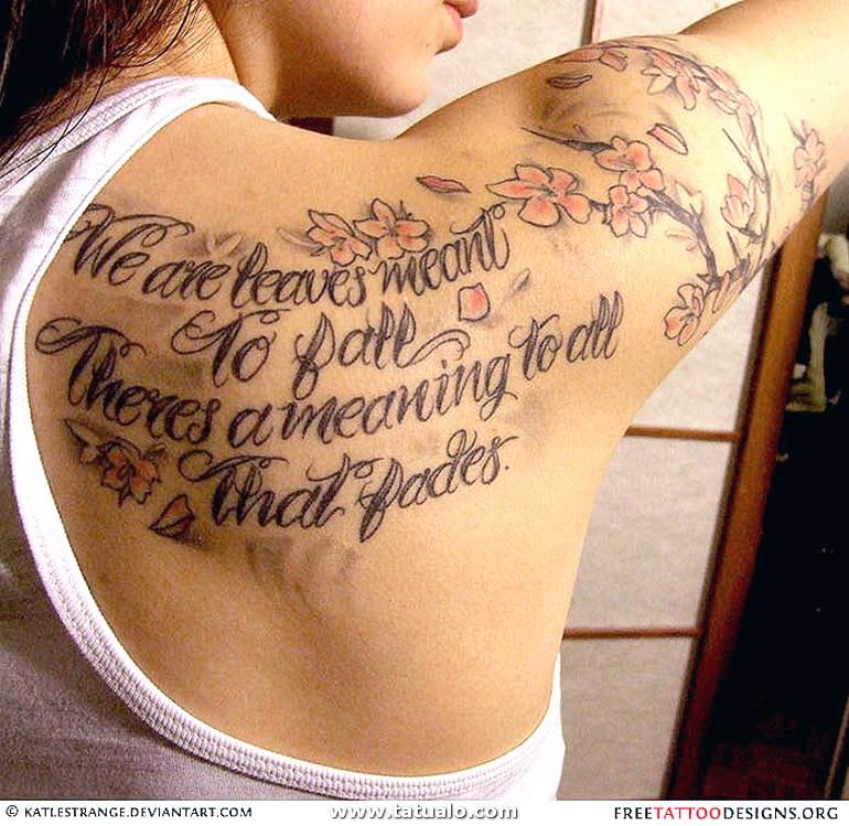 Tatuaje Frase En El Hombro