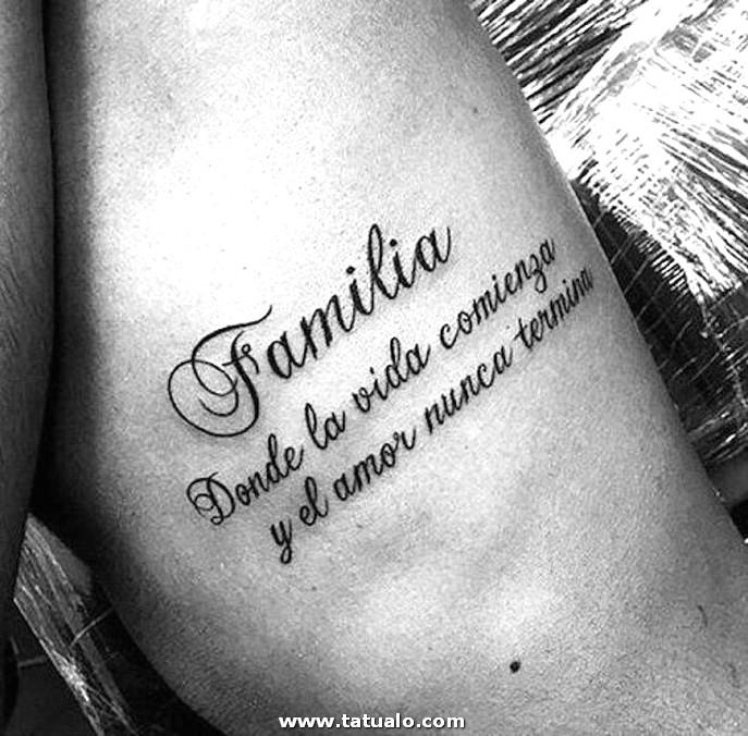 Tatuaje Frase