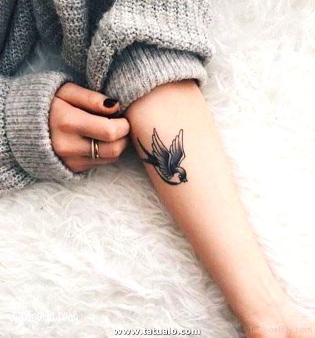 Tatuaje Gorrion Antebrazo Para Mujeres
