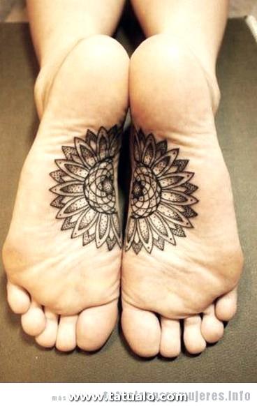 Tatuaje Mandala Planta Pie Mujer E1455197842171