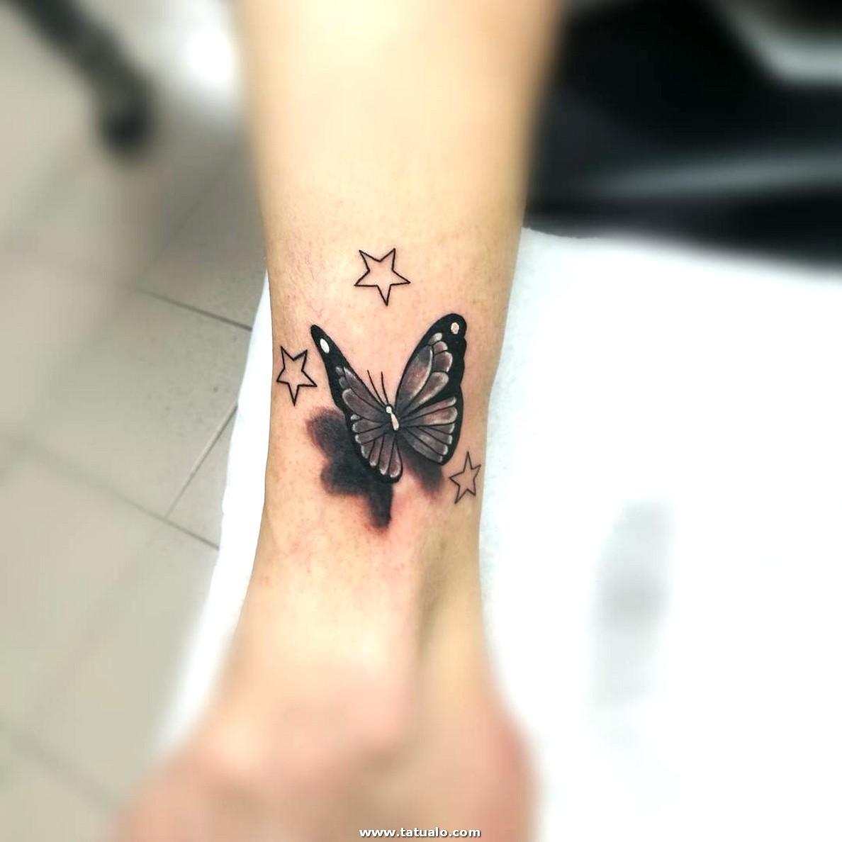 Tatuaje Mariposa Tobillo