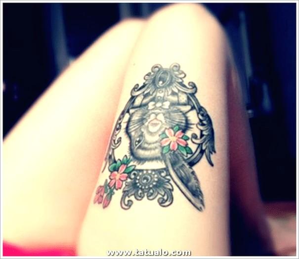 Tatuaje Mujer Pierna