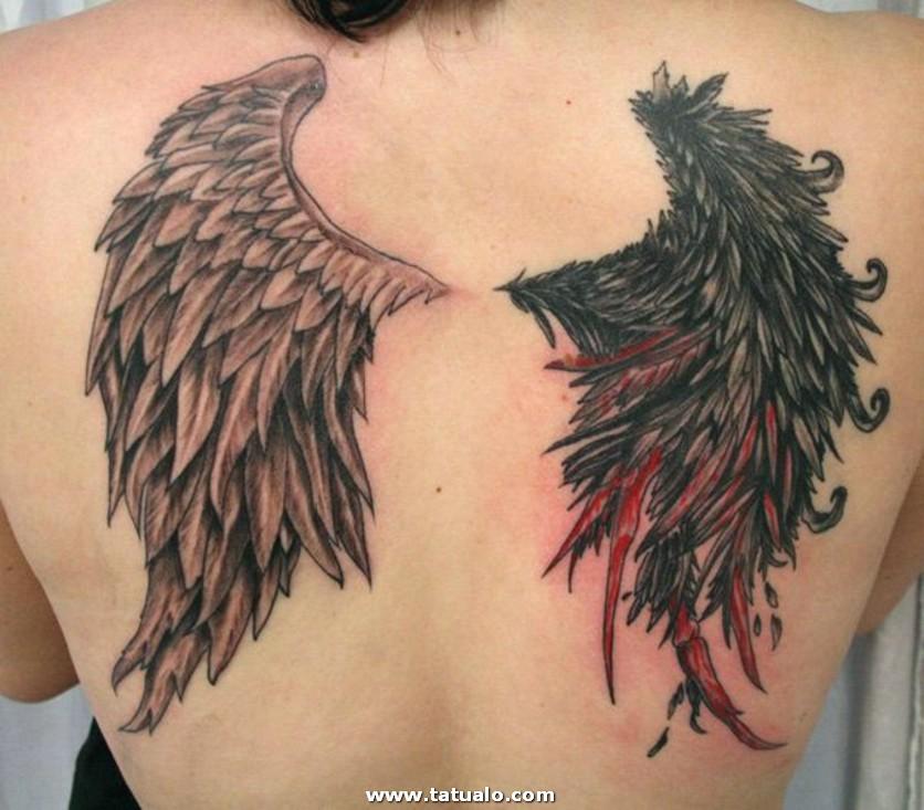 Tatuaje Mujer.alas . Espalda