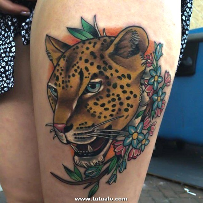 Tatuaje Muslo Pierna 2092