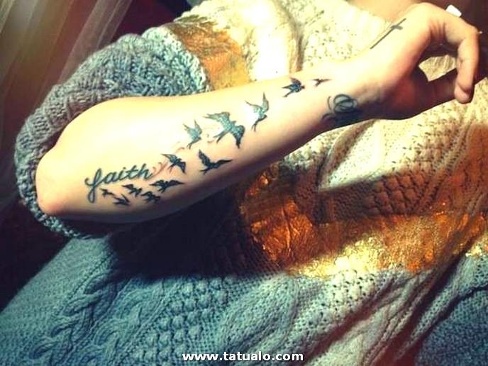 Tatuaje Todo El Brazo Pajaros