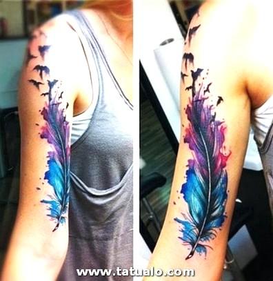 Tatuajes A Color En El Brazo Para Mujer