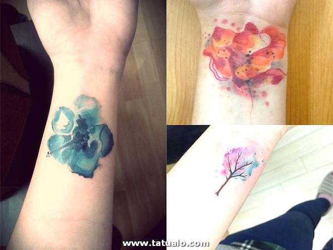 Tatuajes Acuarela Mujer Muneca