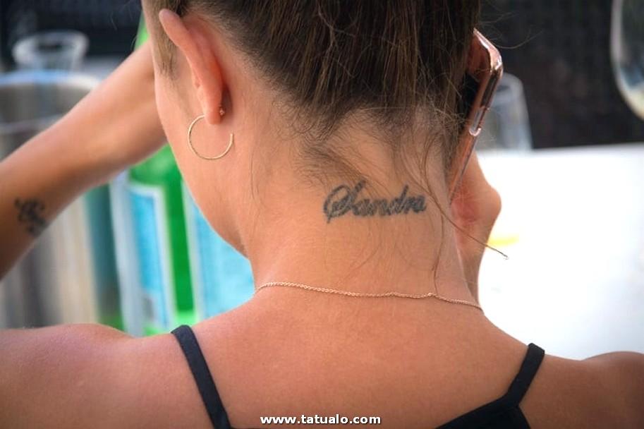 Tatuajes Con Nombres En El Cuello