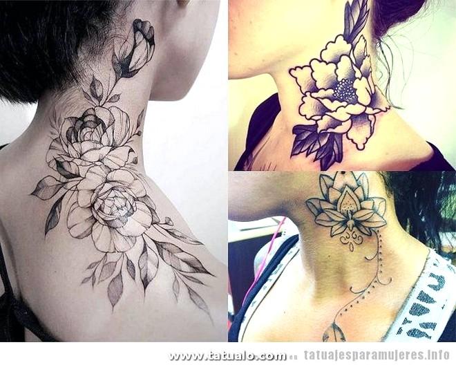 Tatuajes Cuello Mujer Flores
