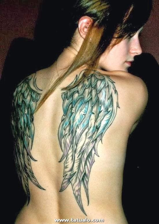 Tatuajes De Alas En La Espalda