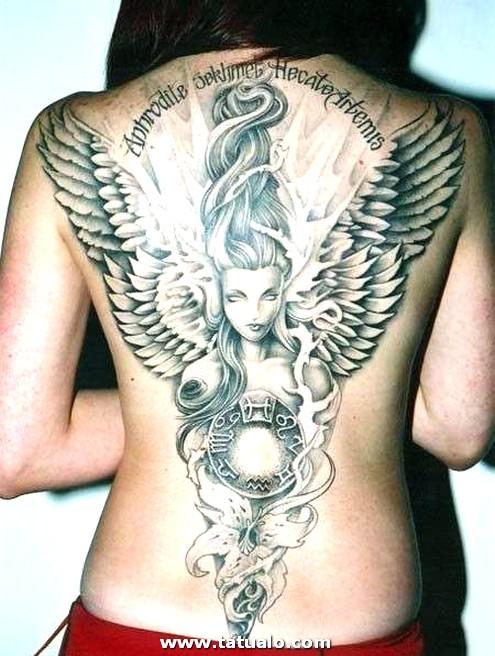 Tatuajes De Angeles Para Mujeres Grande En La Espalda