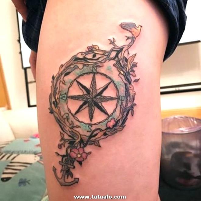 Tatuajes De Brujulas Para Mujeres