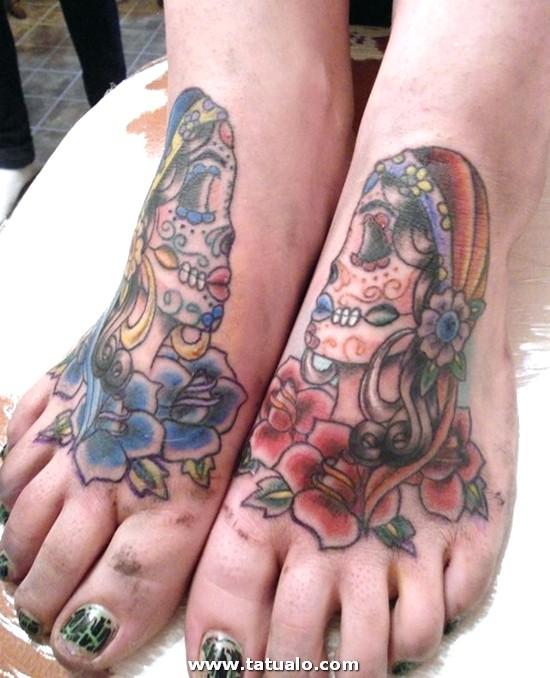 Tatuajes De Calaveras En Los Pies