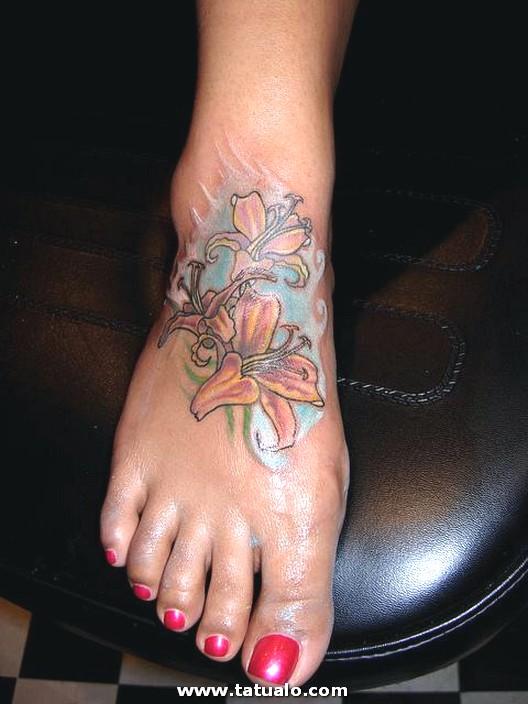 Tatuajes De Flores En El Pie Vix 3