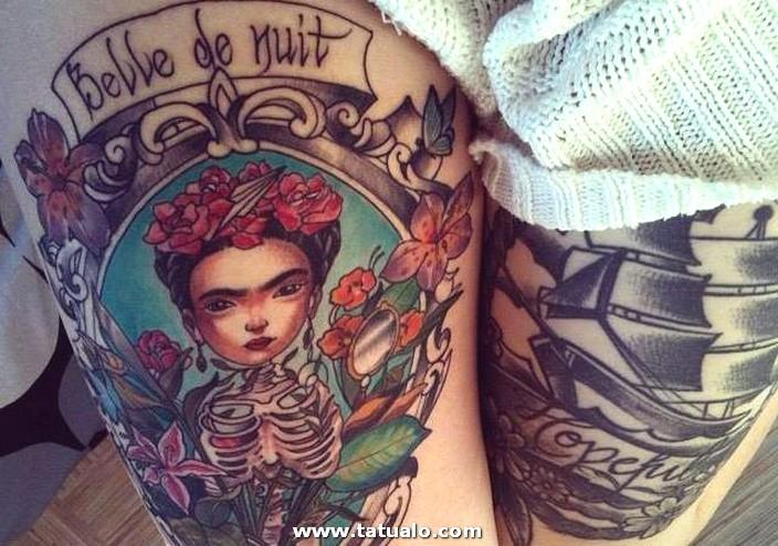 Tatuajes De Frida En La Pierna