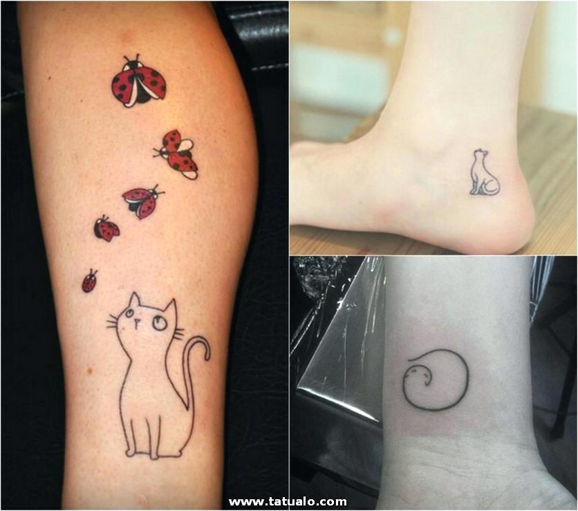Tatuajes De Gatos Piernas