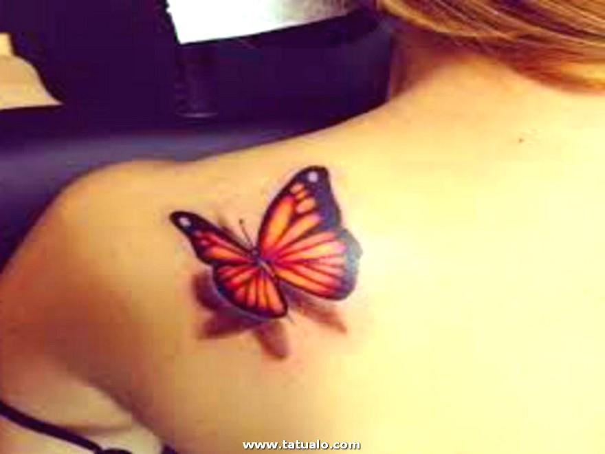 Tatuajes De Mariposas Volando Para Chicas