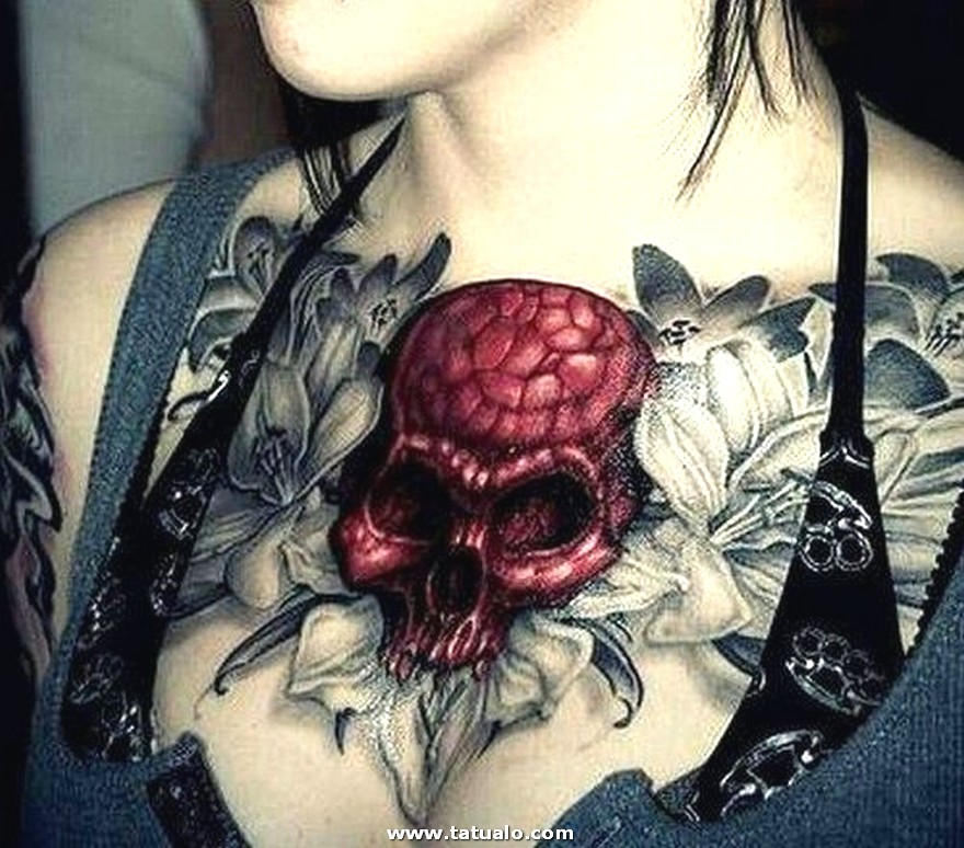 Tatuajes De Pecho En Mujeres