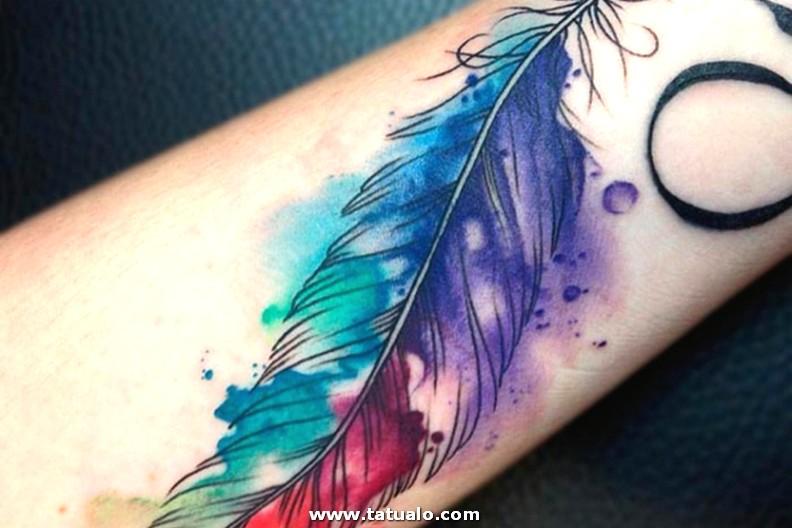 Tatuajes De Plumas Ideas Mujer Muneca Colores 720x480