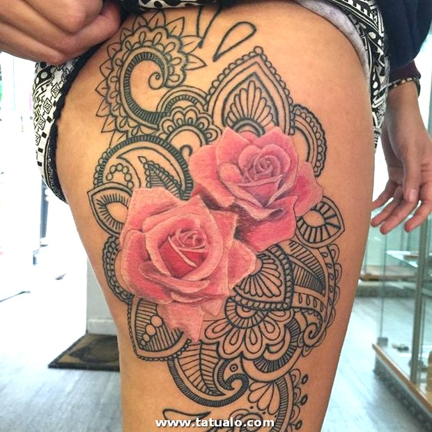 Tatuajes De Rosas En Las Piernas 3