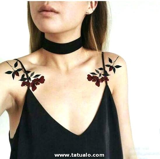 Tatuajes De Rosas En Los Hombros