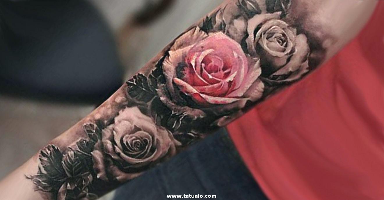 Tatuajes De Rosas Y Todos Sus Significados Mujeres Femeninas Full Color Tatuaje Rosa Brazo 5bf540f04c5e1