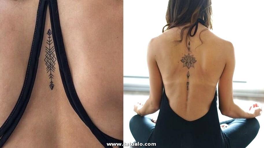 Tatuajes Delicados Medio De La Espalda