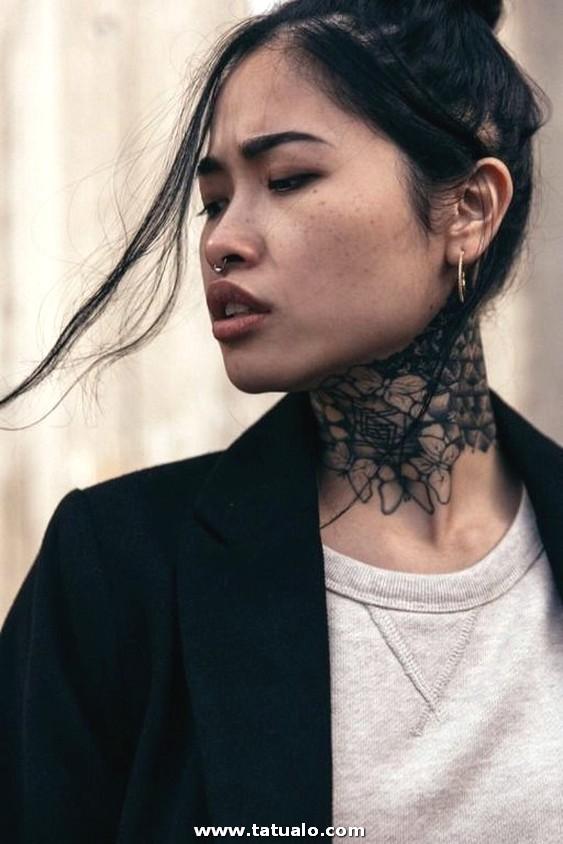 Tatuajes En El Cuello Grandes