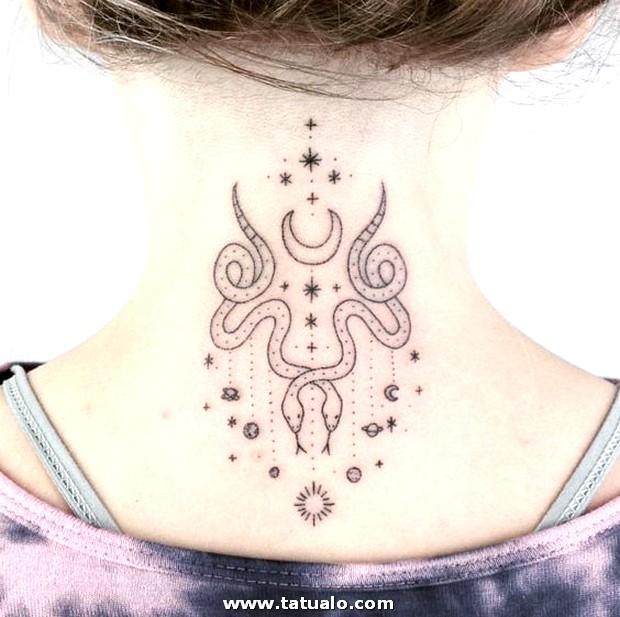 Tatuajes En El Cuello Para Mujeres 1