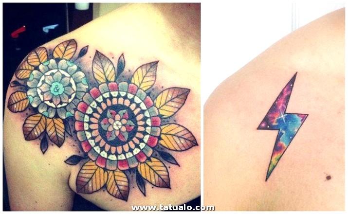 Tatuajes En El Hombro Chica