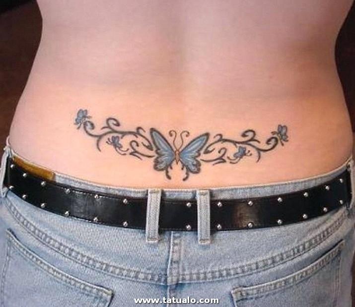 Tatuajes En La Espalda Baja Para Mujeres Delicados
