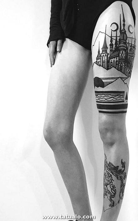 Tatuajes En La Pierna 107 400x640