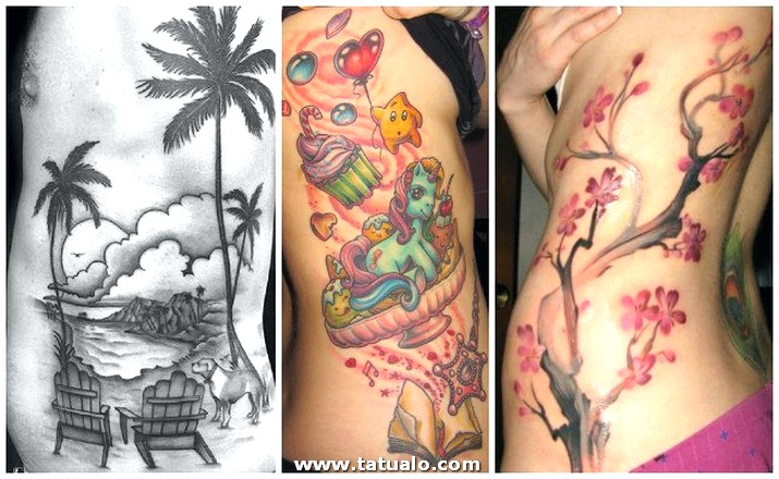 Tatuajes En Las Costillas A Color