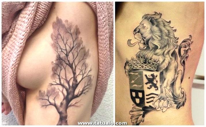 Tatuajes En Las Costillas Arboles
