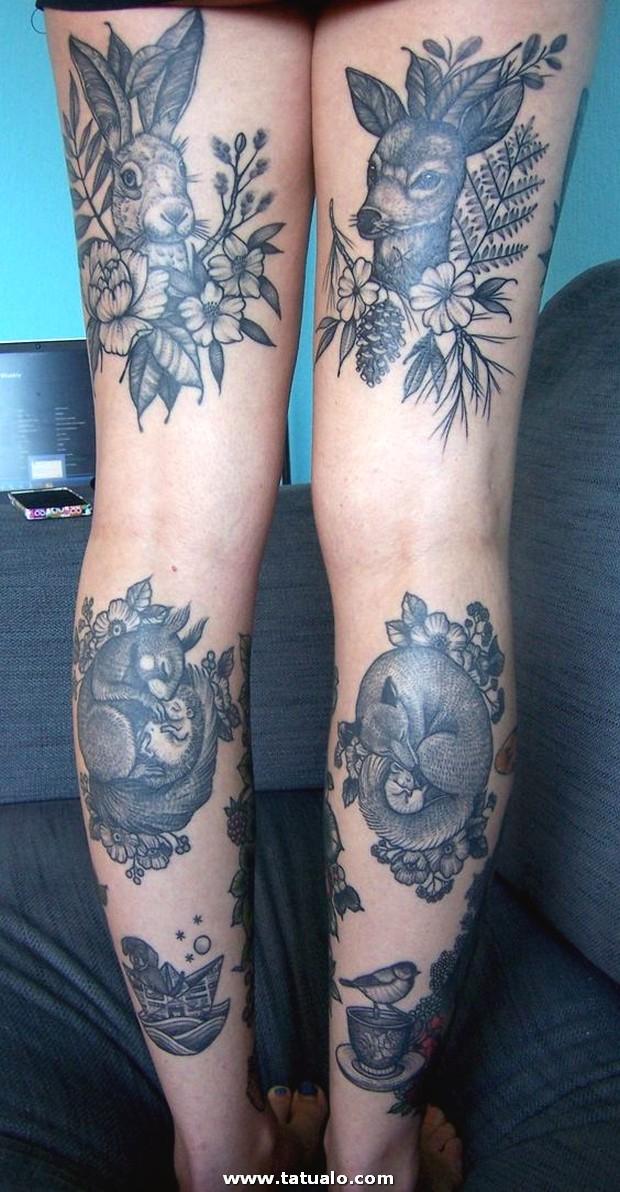 Tatuajes En Las Piernas Mujeres Color 2