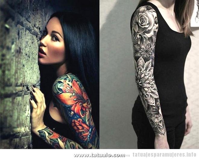 Tatuajes Mujer Brazo Manga Entera 2
