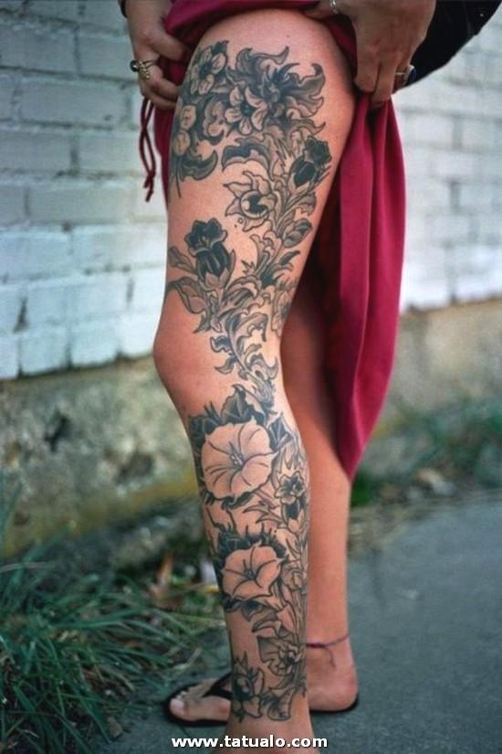 Tatuajes Mujeres Piernas 25 500x750