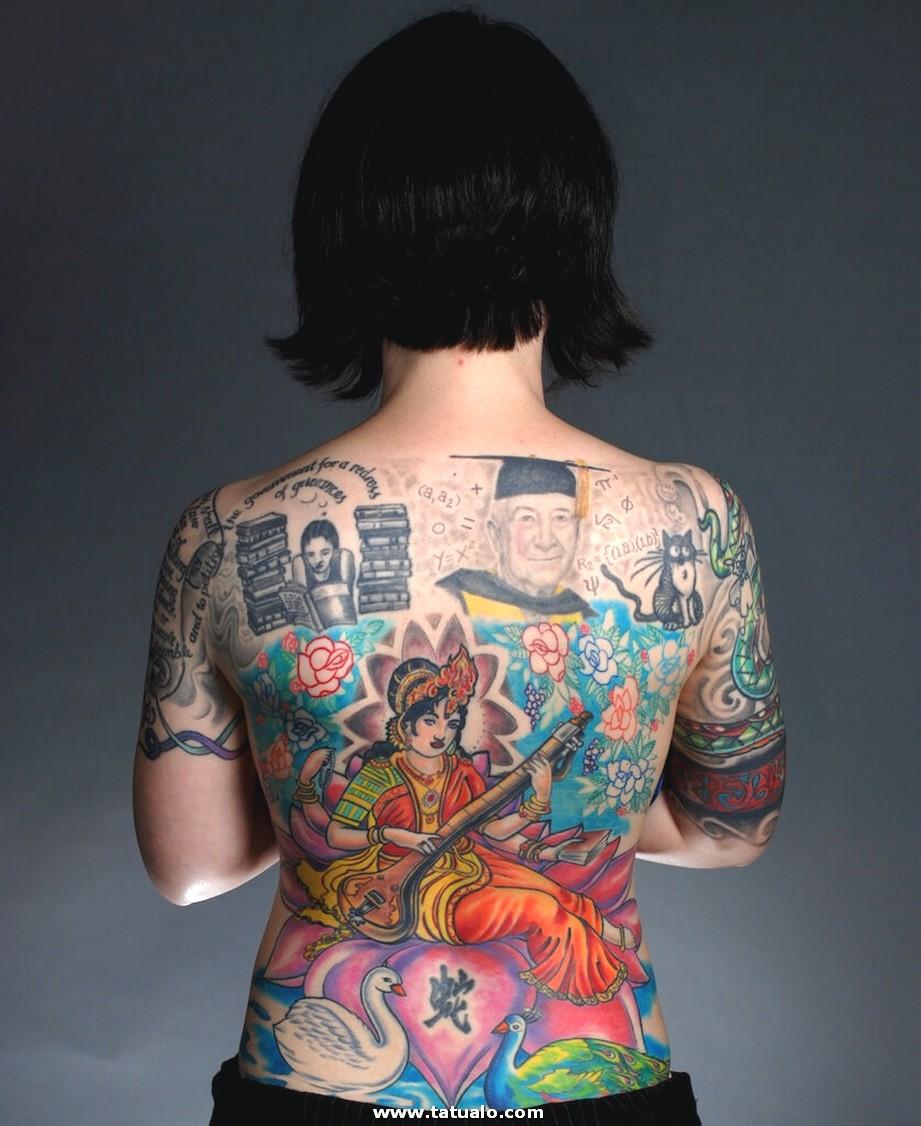 Tatuajes Para La Espalda De Una Mujer 10