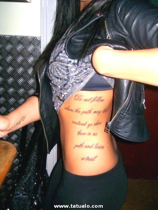 Tatuajes Para Mujer Costillas Sexys Mujer 04