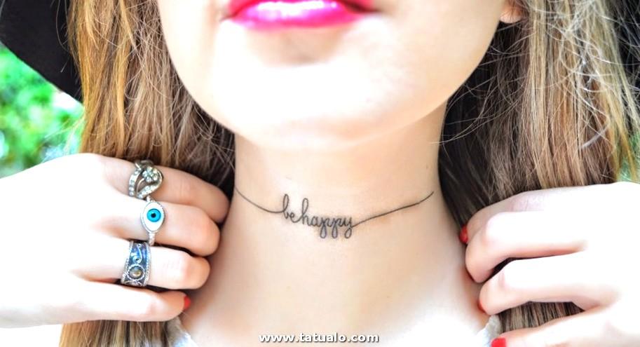 Tatuajes Para Mujeres En El Cuello Letras