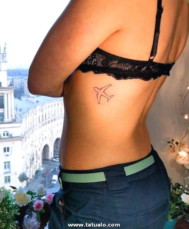 Tatuajes Para Mujeres En Las Costillas Hermoso Airplane Image Ink Pinterest Of Tatuajes Para Mujeres En Las Costillas