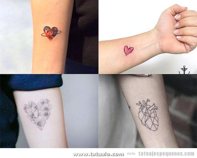 Tatuajes Pequenos Antebrazo Mujer Corazones 600x480