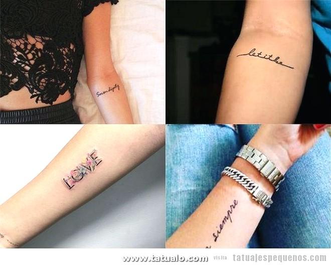 Tatuajes Pequenos Antebrazo Mujer Palabras