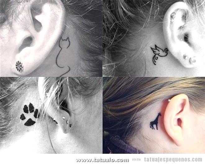 Tatuajes Pequenos Detras Oreja Animales