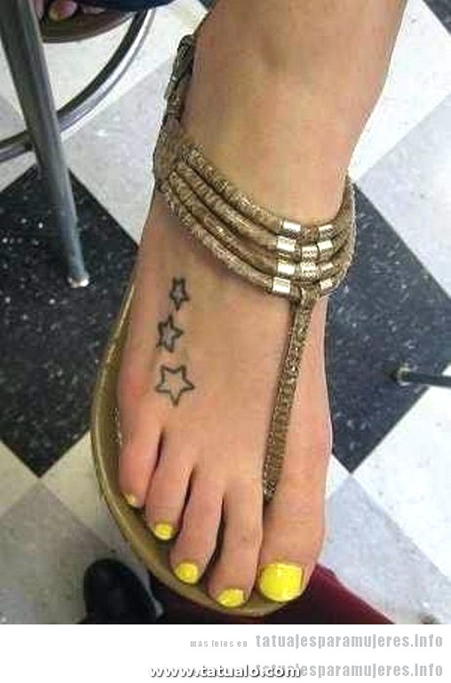Tatuajes Pequenos Mini Empeine Mujer 12