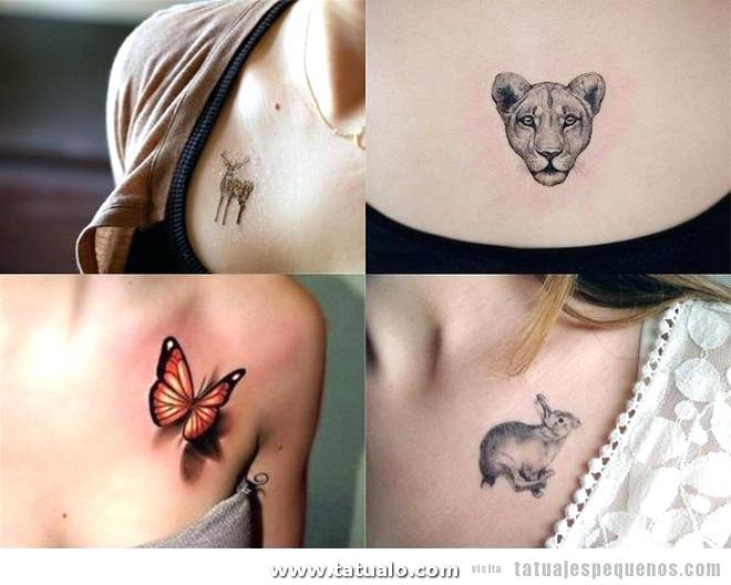 Tatuajes Pequenos Pecho Mujer Animales 600x480