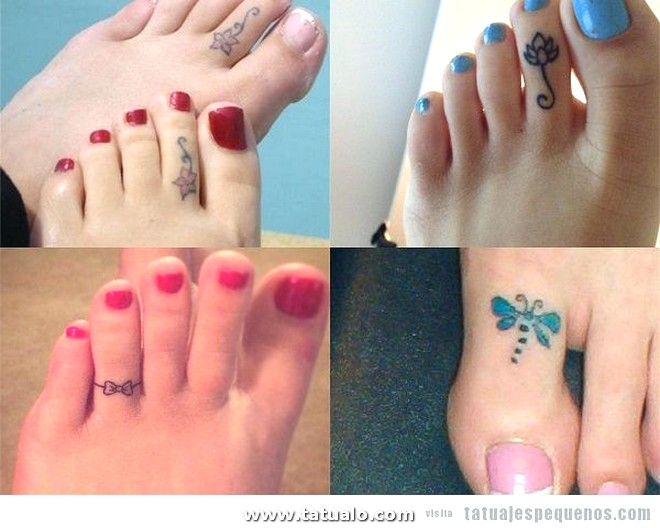 Tatuajes Pequenos Pie Dedos