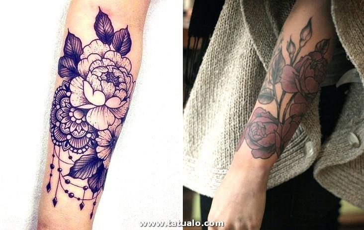 Tatuajes Ramo Flores