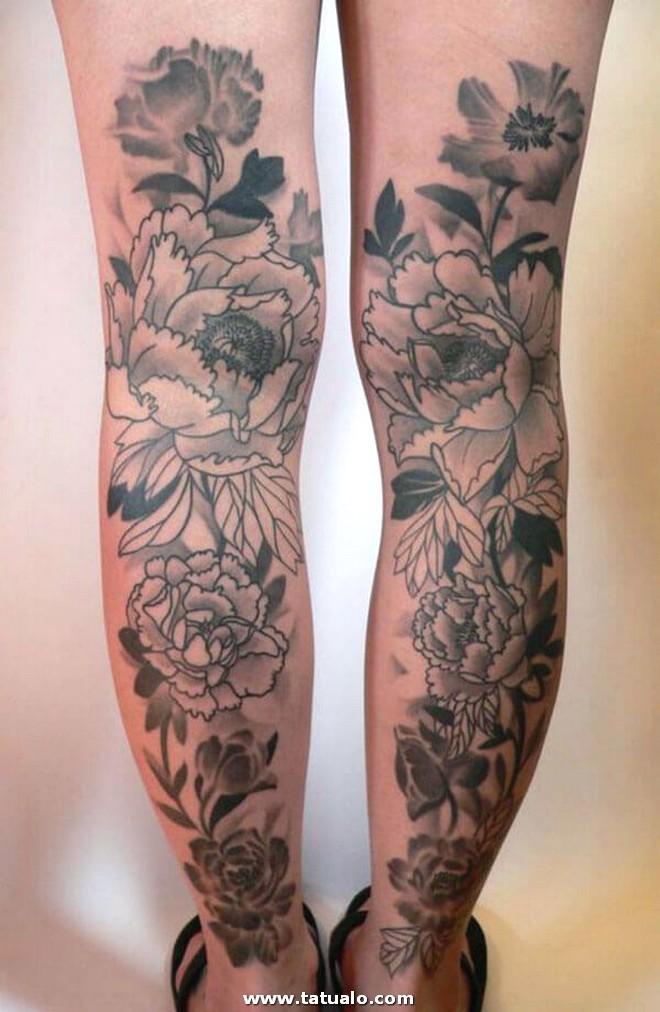Tatuajes Rosas Piernas Mujeres